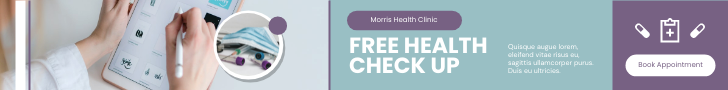 Banner Ad template: Health Check Up Banner Ad (Created by InfoART's Banner Ad maker)