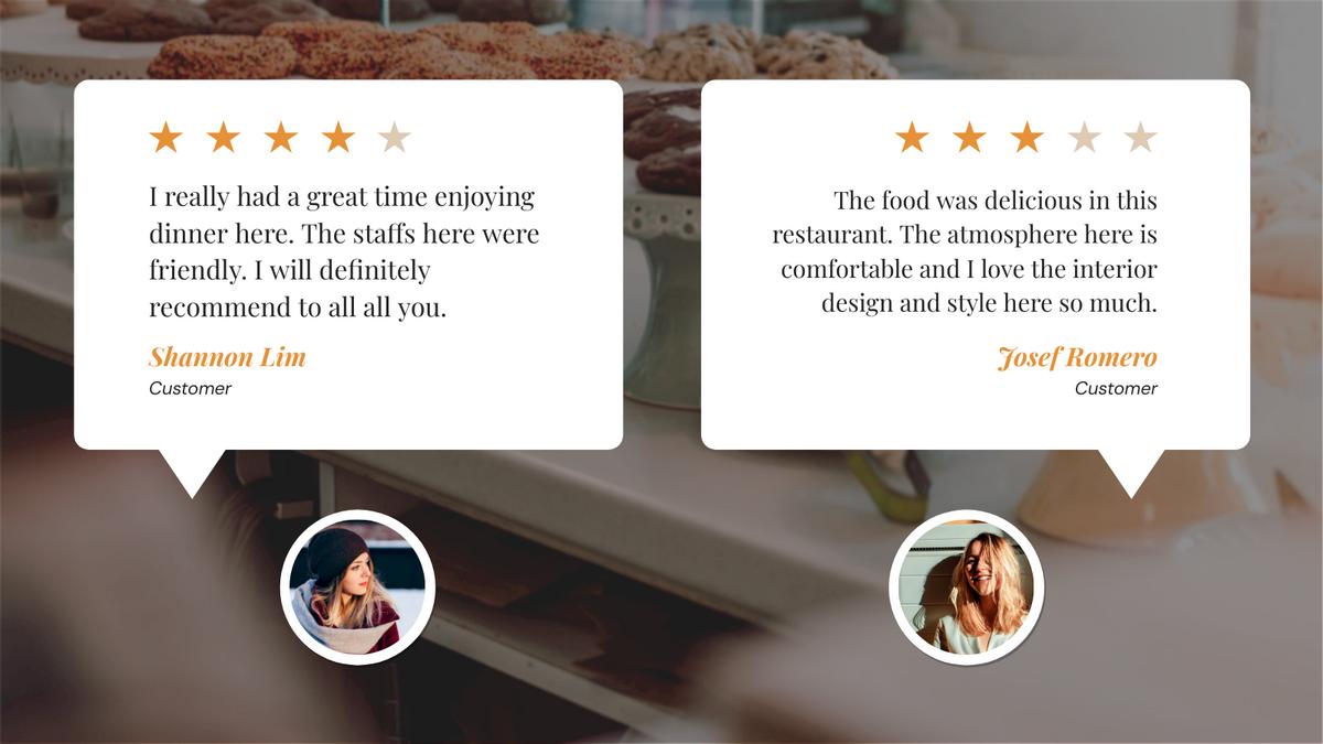 Twitter Post template: Restaurant Customer Review Twitter Post (Created by InfoART's Twitter Post maker)