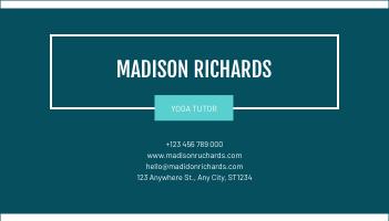 Business Card template: Blue Marple Pattern Photo Business Card (Created by InfoART's Business Card maker)