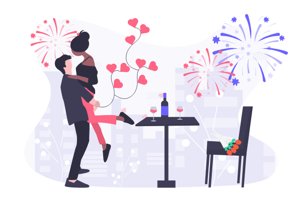 Festival Illustration template: Valentine's Day Celebration (Created by Scenarios's Festival Illustration maker)