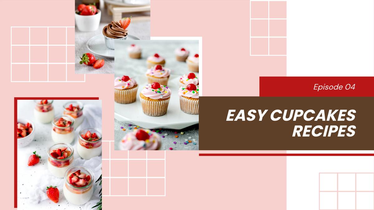 YouTube Thumbnail template: Easy Cupcake Recipes YouTube Thumbnail (Created by Collage's YouTube Thumbnail maker)