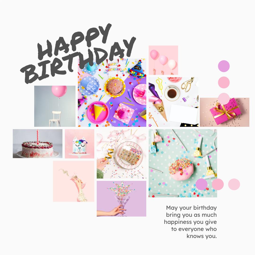 Instagram Post template: Happy Birthday Wishes Instagram Post (Created by Collage's Instagram Post maker)