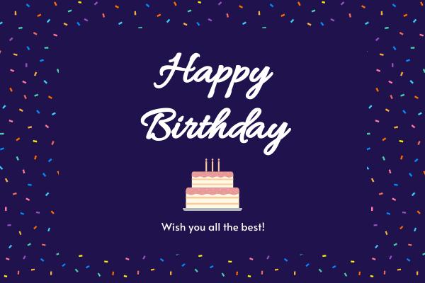 Greeting Card template: Deep Purple Birthday Greeting Card (Created by InfoART's Greeting Card maker)