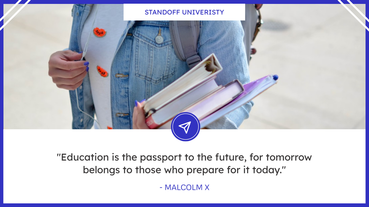 Twitter Post template: School Studying Inspirational Quote Twitter Post (Created by InfoART's Twitter Post maker)