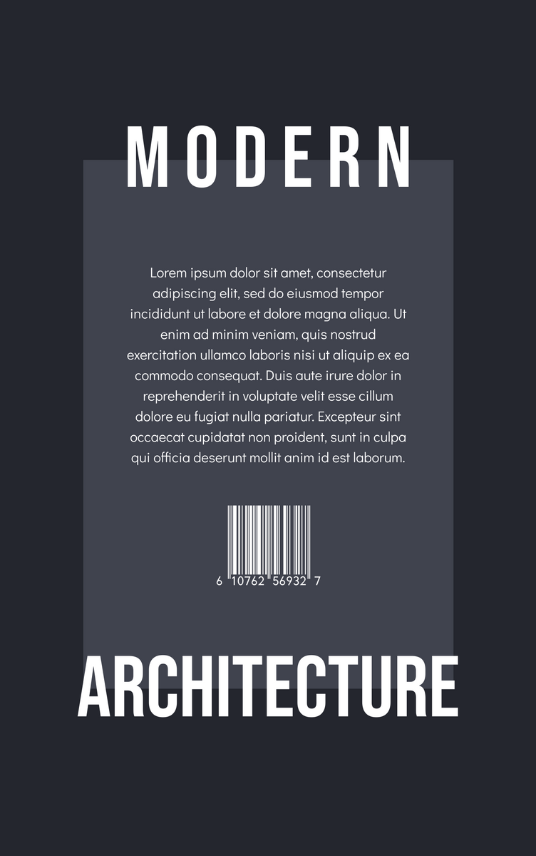 Book Cover template: Modern Architecture Pattern Photo Book Cover (Created by InfoART's Book Cover maker)