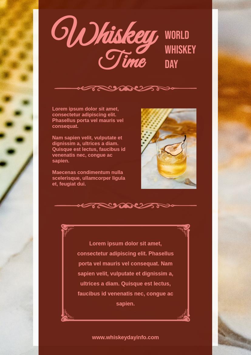 Flyer template: Whiskey Day Informative Flyer (Created by InfoART's Flyer maker)