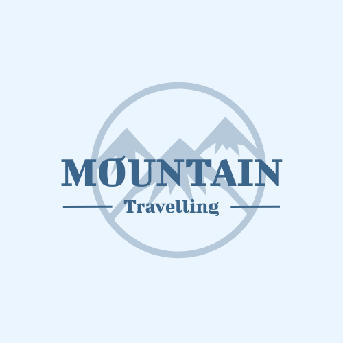 Logo template: Typography Logo Design With Mountain Background Designed For Travelling Company (Created by InfoART's Logo maker)