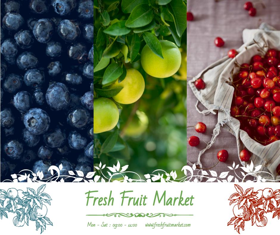 Facebook Post template: Fruit Market Photography Facebook Post (Created by InfoART's Facebook Post maker)
