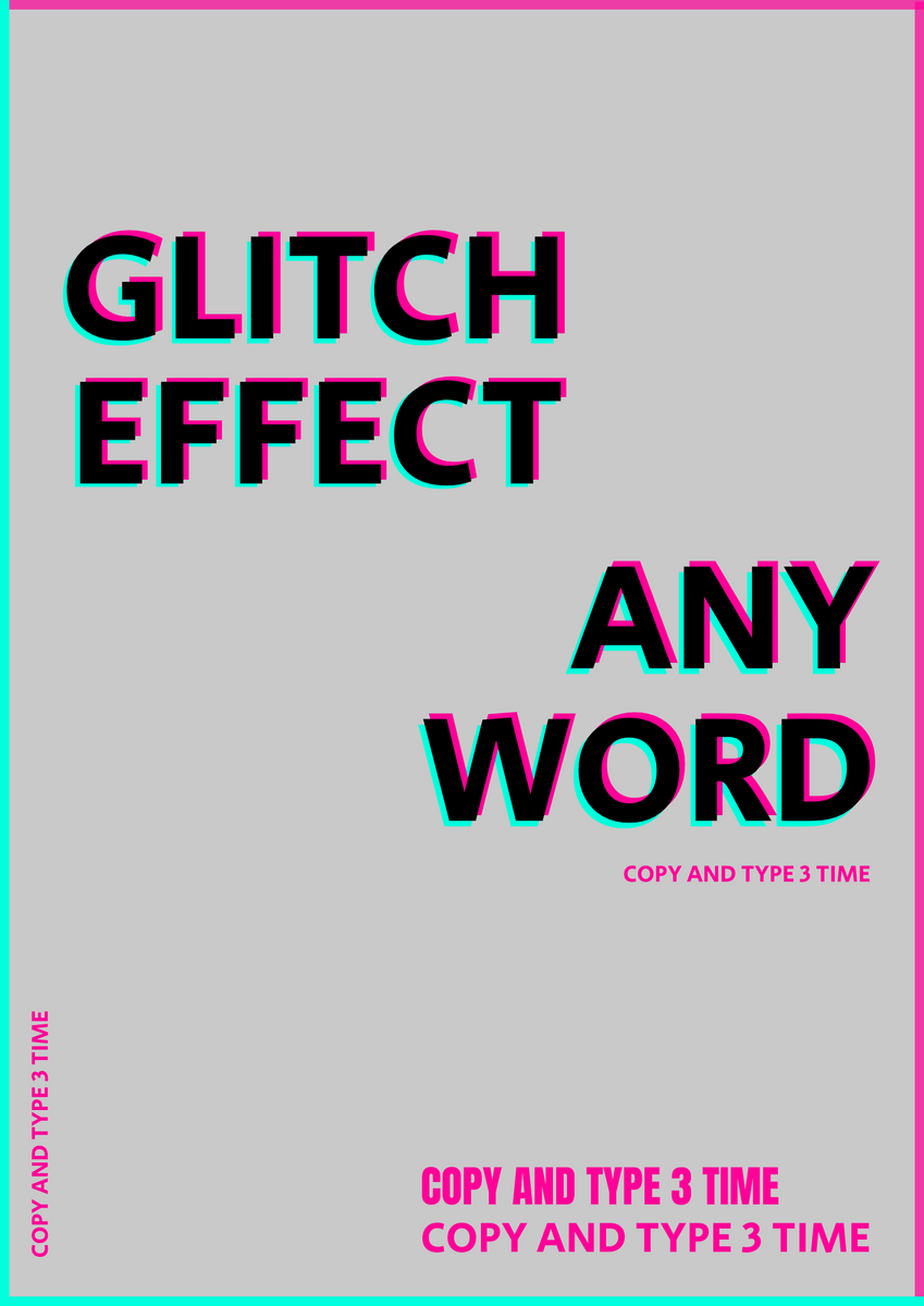 Poster template: Glitch effect poster (Created by InfoART's Poster marker)