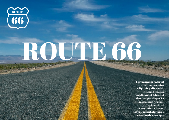 Post Card template: Route 66 Postcard (Created by InfoART's Post Card marker)