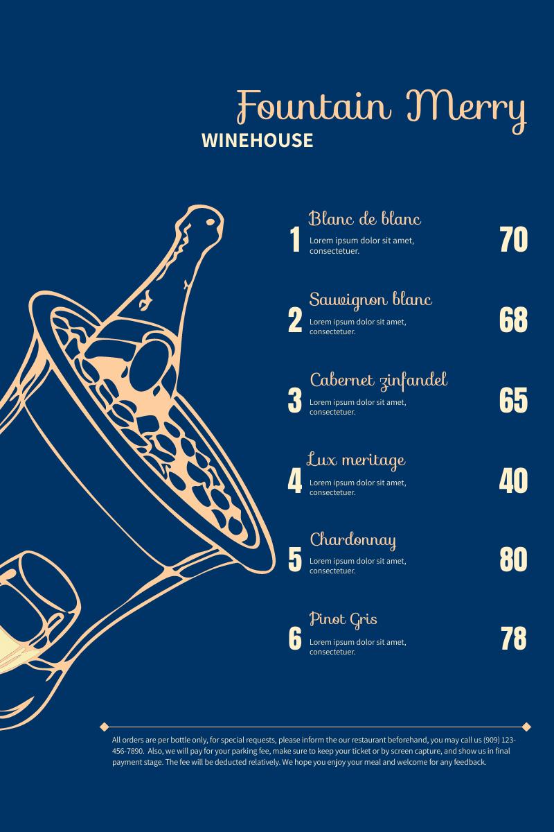 Winehouse Menu