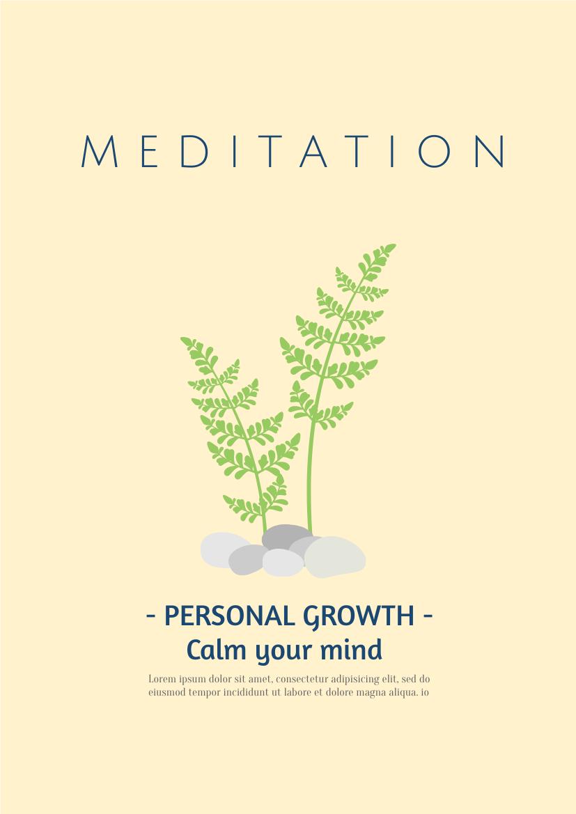 Flyer template: Meditation (Created by InfoART's Flyer maker)