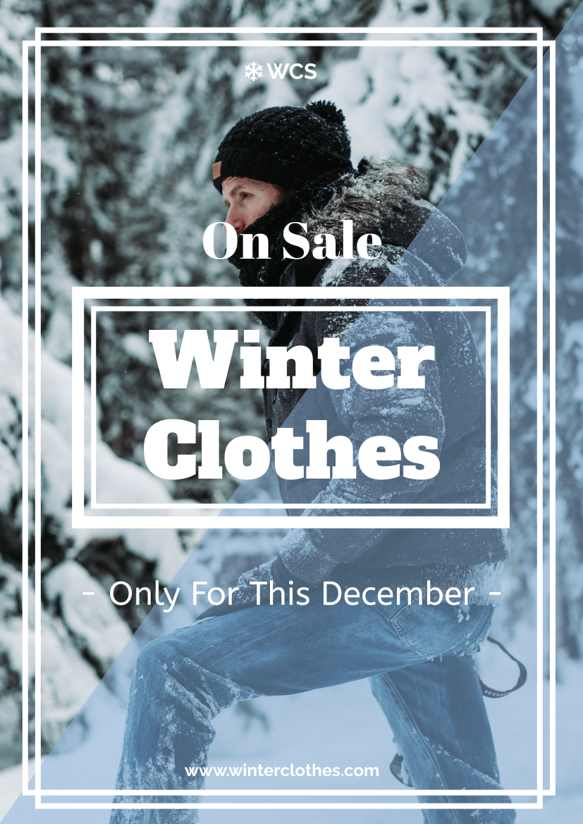 Flyer template: Winter Clothes On Sale Flyer (Created by InfoART's Flyer maker)