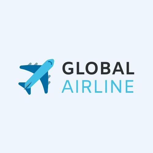 Logo template: Global Airline Logo (Created by InfoART's Logo maker)