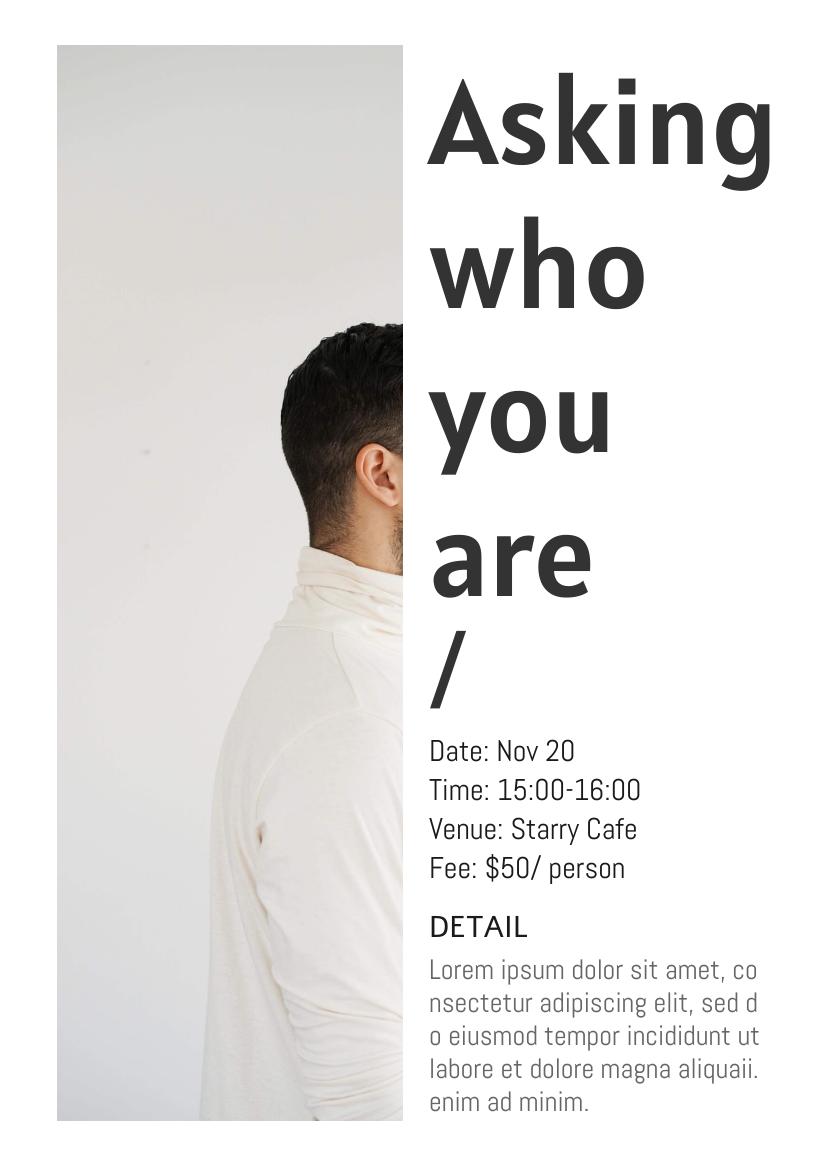 Flyer template: Self-Awareness Event Flyer (Created by InfoART's Flyer maker)