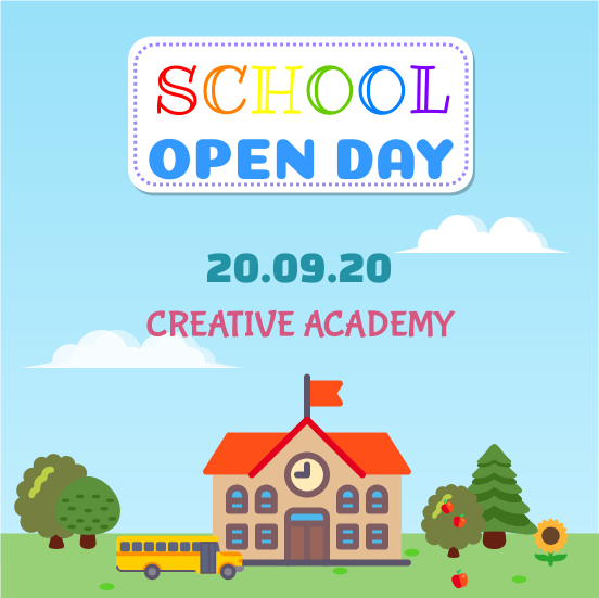 Invitation template: School Open day (Created by InfoART's Invitation marker)