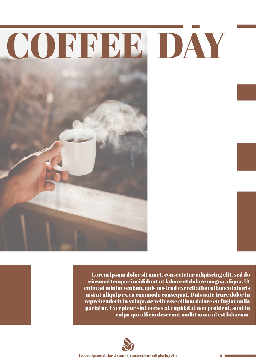 Poster template: Coffee Day Poster (Created by InfoART's Poster marker)