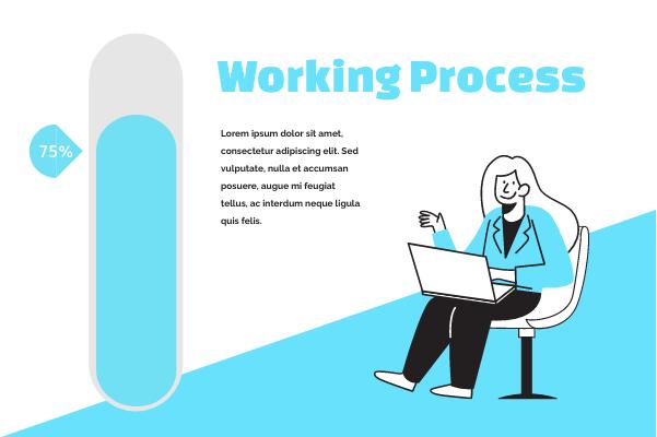 Progress template: Working Process (Created by InfoChart's Progress maker)