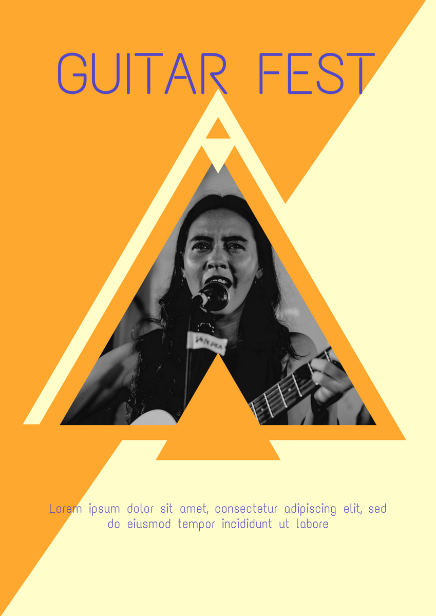 Poster template: Guitar Fest Poster (Created by InfoART's Poster marker)