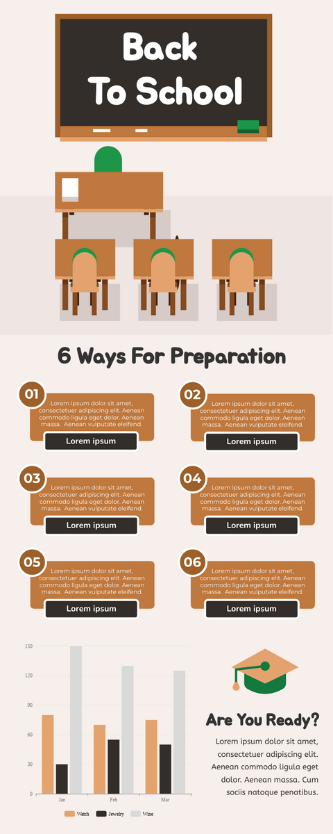 Infographic template: Back To School Infographic (Created by InfoART's Infographic maker)