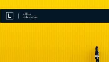 Business Card template: Yellow And Blue Modern Photographer Business Card (Created by InfoART's Business Card maker)