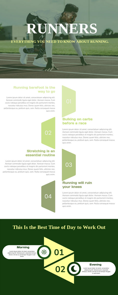 Infographic template: Infographic About Running (Created by InfoART's Infographic maker)