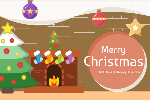 Greeting Card template: Christmas Greeting Card (Created by InfoART's Greeting Card maker)