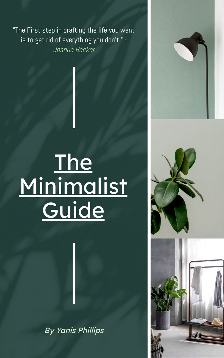 Book Cover template: The Minimalist guide Declutter Book Cover (Created by InfoART's Book Cover maker)