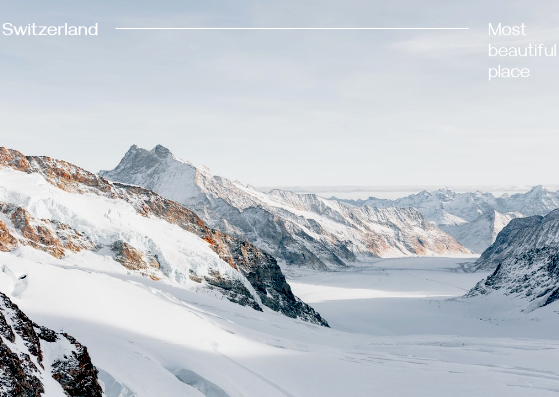 Postcard template: Switzerland Postcard (Created by InfoART's Postcard maker)