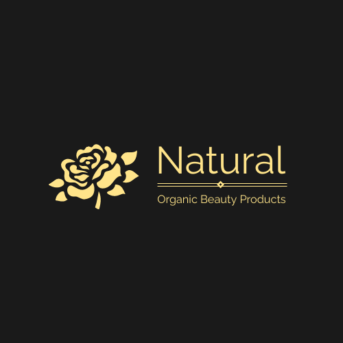 Logo template: Golden Floral Logo Created For Elegant Organic Beauty Company (Created by InfoART's Logo maker)