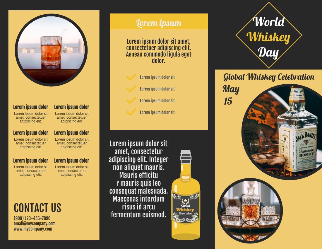 Brochure template: World Whiskey Day Brochure (Created by InfoART's Brochure maker)