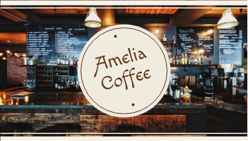 Business Card template: Brown Cafe Photo Coffee Shop Business Card (Created by InfoART's Business Card maker)