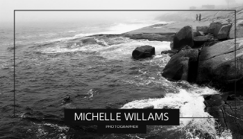 Business Card template: Sea Wave Photo Black And White Business Card (Created by InfoART's Business Card maker)
