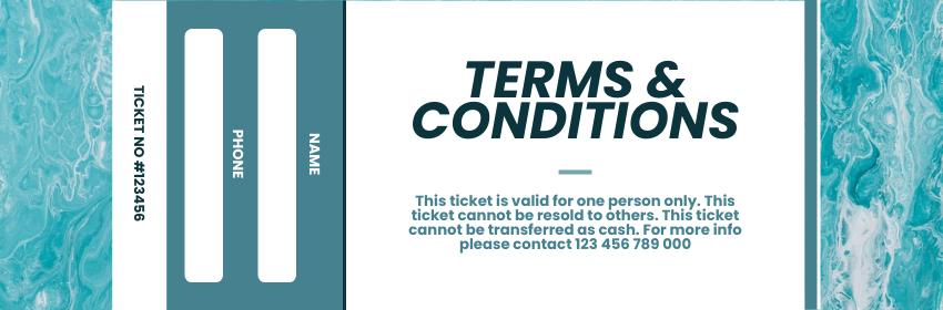 Ticket template: Swimming Gala Ticket (Created by InfoART's Ticket maker)