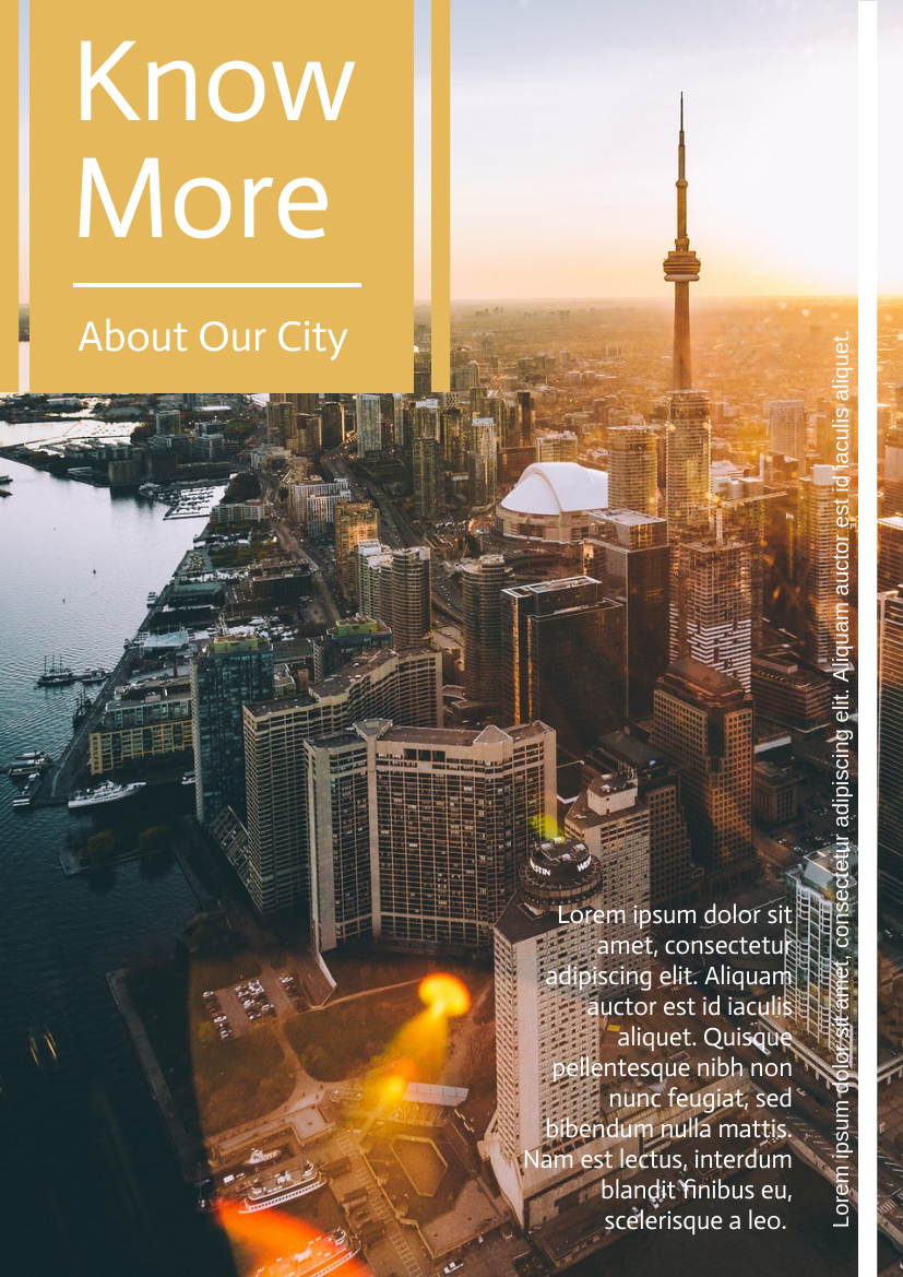 Flyer template: About Our City Flyer (Created by InfoART's Flyer maker)