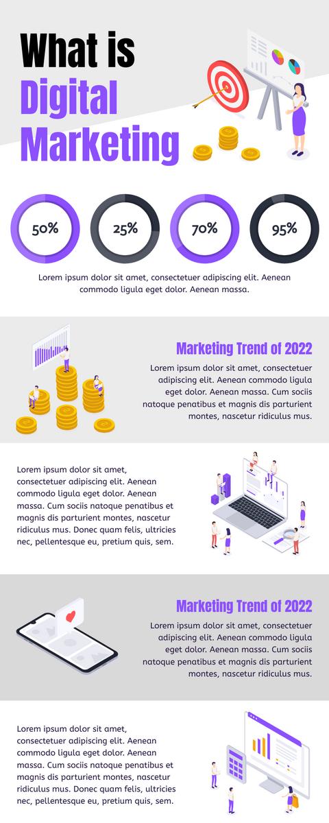 信息图表模板:什么是数字营销信息图表(由InfoART的信息图表标记创建)
