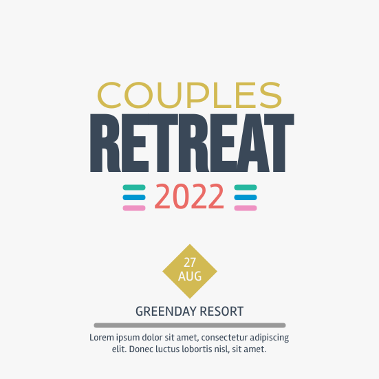Invitation template: Couples Retreat (Created by InfoART's Invitation marker)