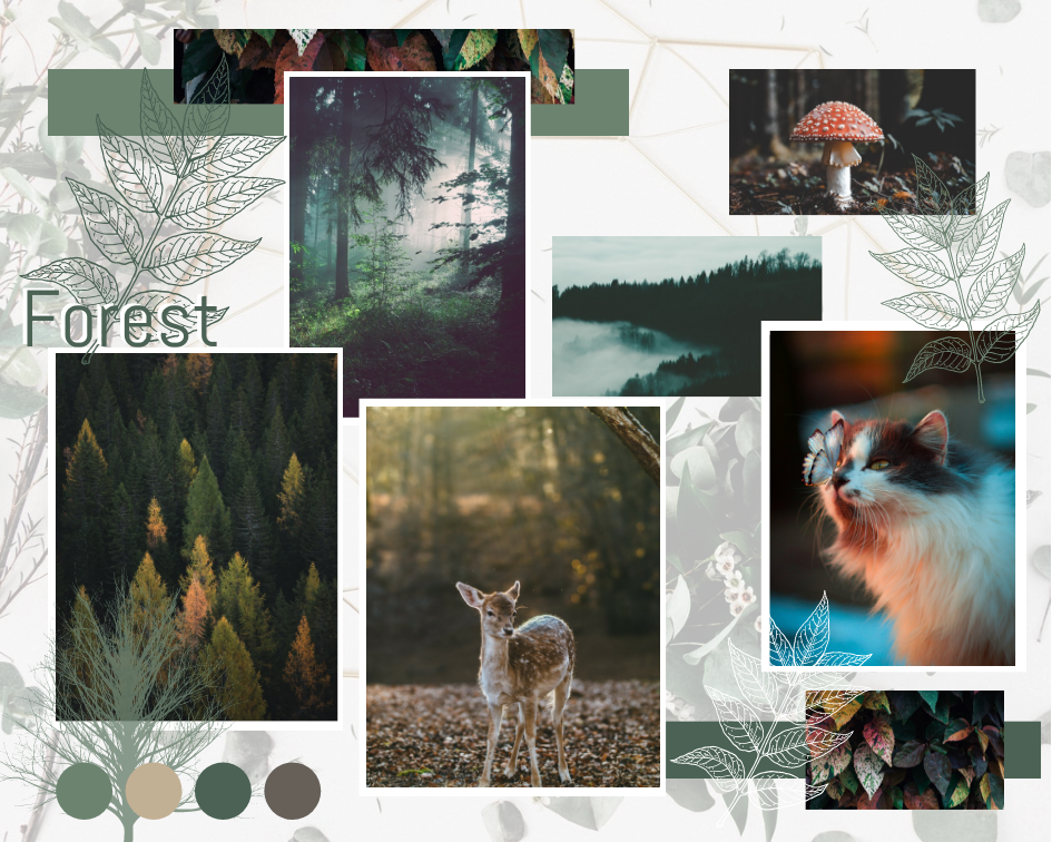 Mood Board template: Forest Mood Board (Created by Collage's Mood Board maker)