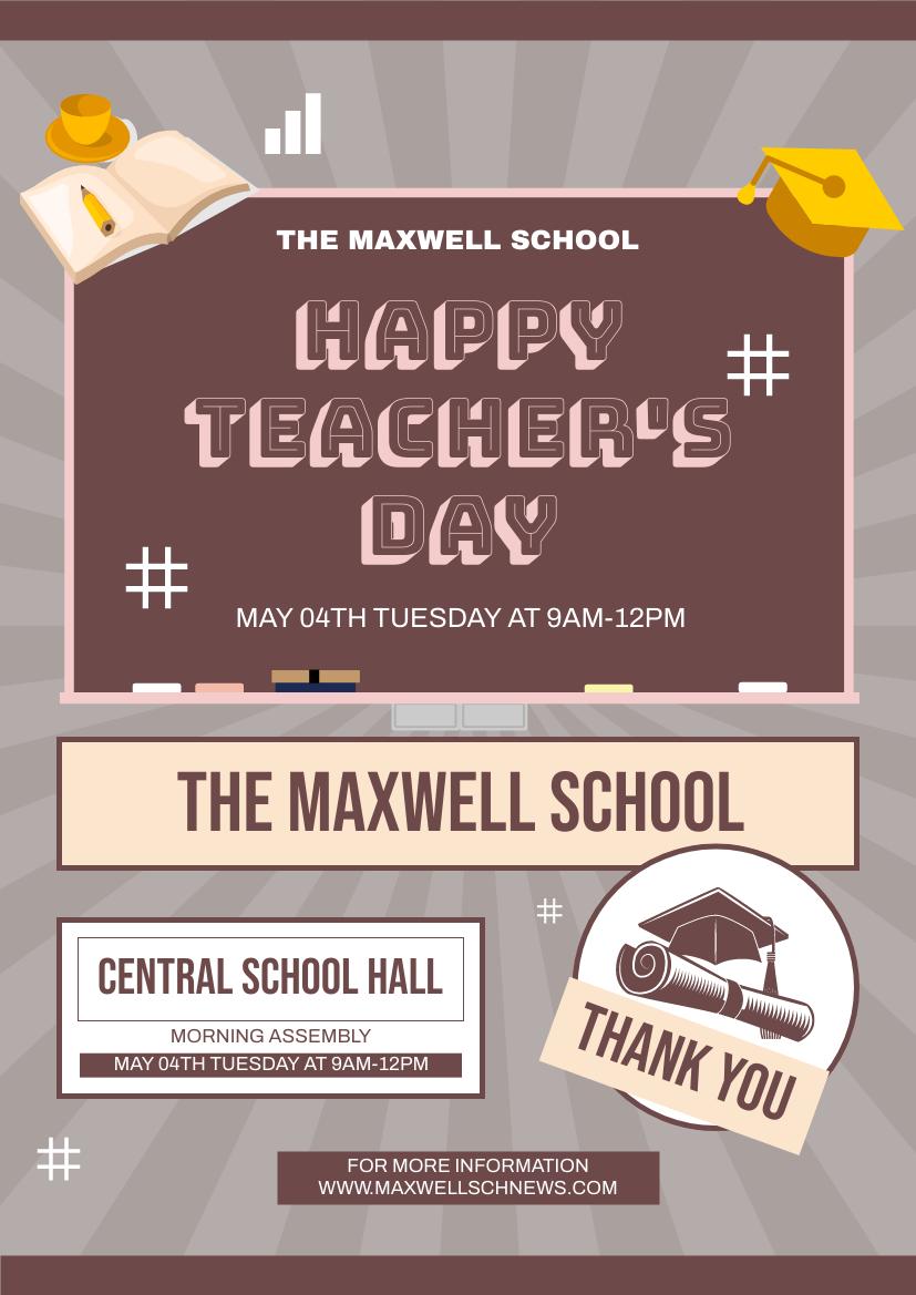 Flyer template: Teacher's Day Assembly Flyer (Created by InfoART's Flyer maker)