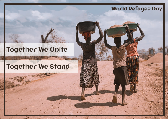Postcard template: World Refugee Day photo Postcard (Created by InfoART's Postcard maker)