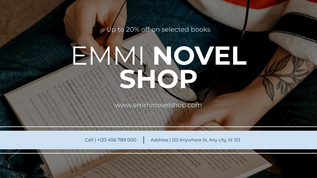 Twitter Post template: Novel Shop Book Selling Twitter Post (Created by InfoART's Twitter Post maker)