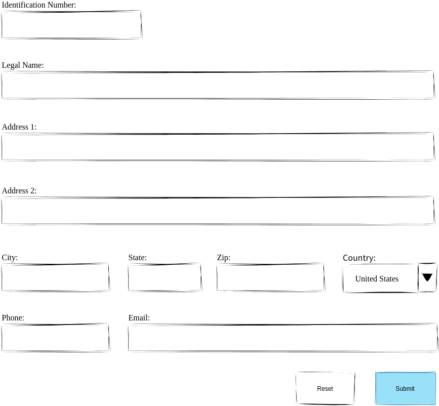 Registration Form Wired UI (Wired UI Diagram Example)