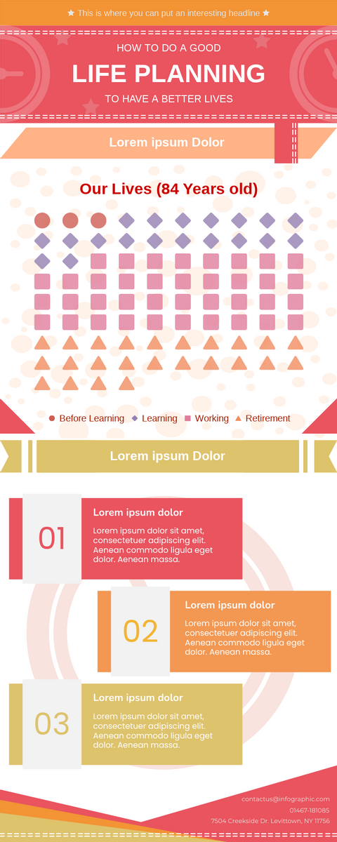 Infographic template: Life Planning Infographic (Created by InfoART's Infographic maker)