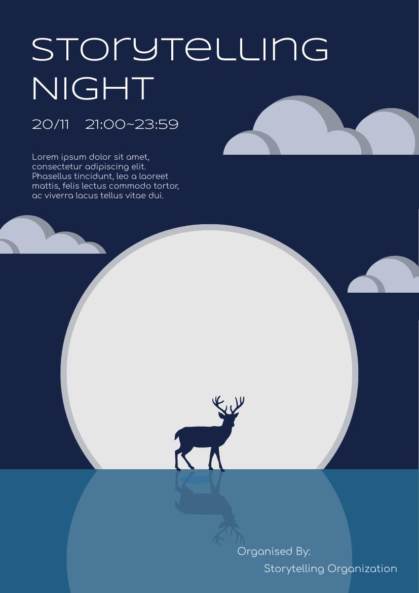 Flyer template: Storytelling Event Flyer (Created by InfoART's Flyer maker)