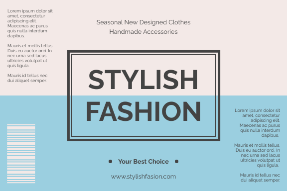 Label template: Clothes And Accessories Label (Created by InfoART's Label maker)