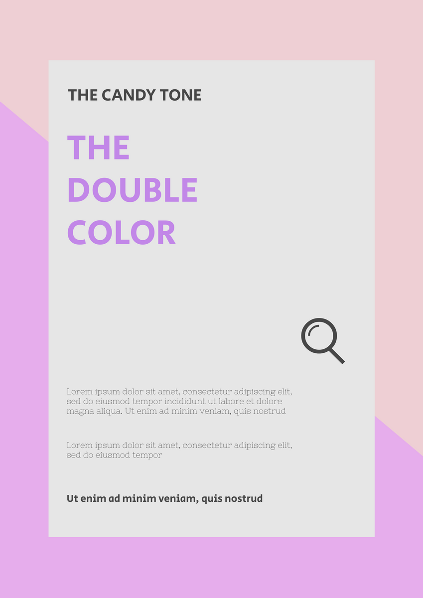 Poster template: Candy Tone Poster (Created by InfoART's Poster maker)