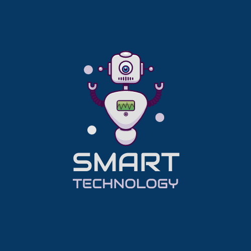 Logo template: Robot Logo Created For Technology Related Company (Created by InfoART's Logo maker)