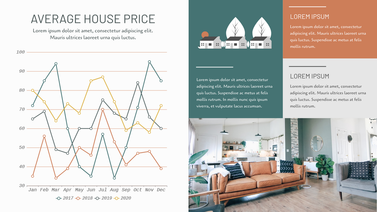 Line Chart template: Average House Price Line Chart (Created by Chart's Line Chart maker)