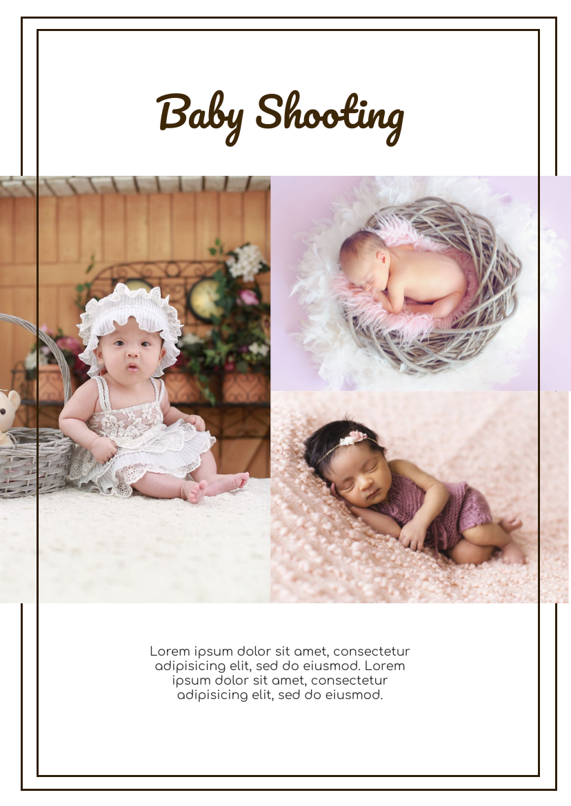 Flyer template: Baby Photo Shooting Flyer (Created by InfoART's Flyer maker)