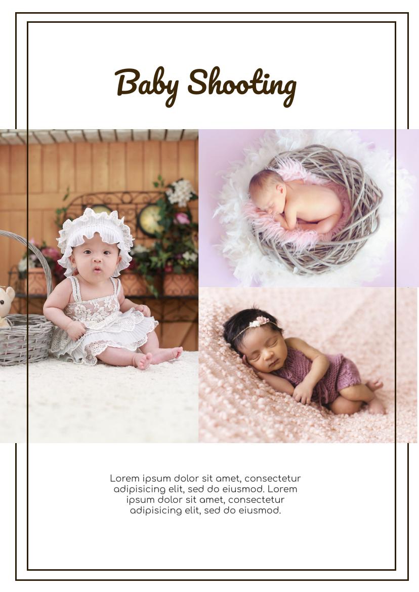 Flyer template: Baby Shooting Flyer (Created by InfoART's Flyer maker)